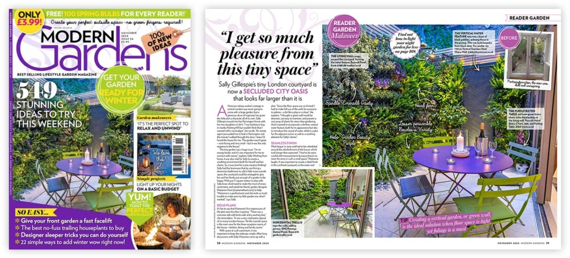 Modern Gardens Readers Garden featuring Kelso Place
