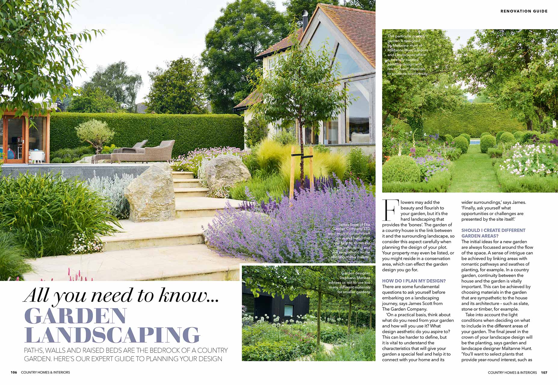 Country Homes & Interiors article featuring Maitanne Hunt