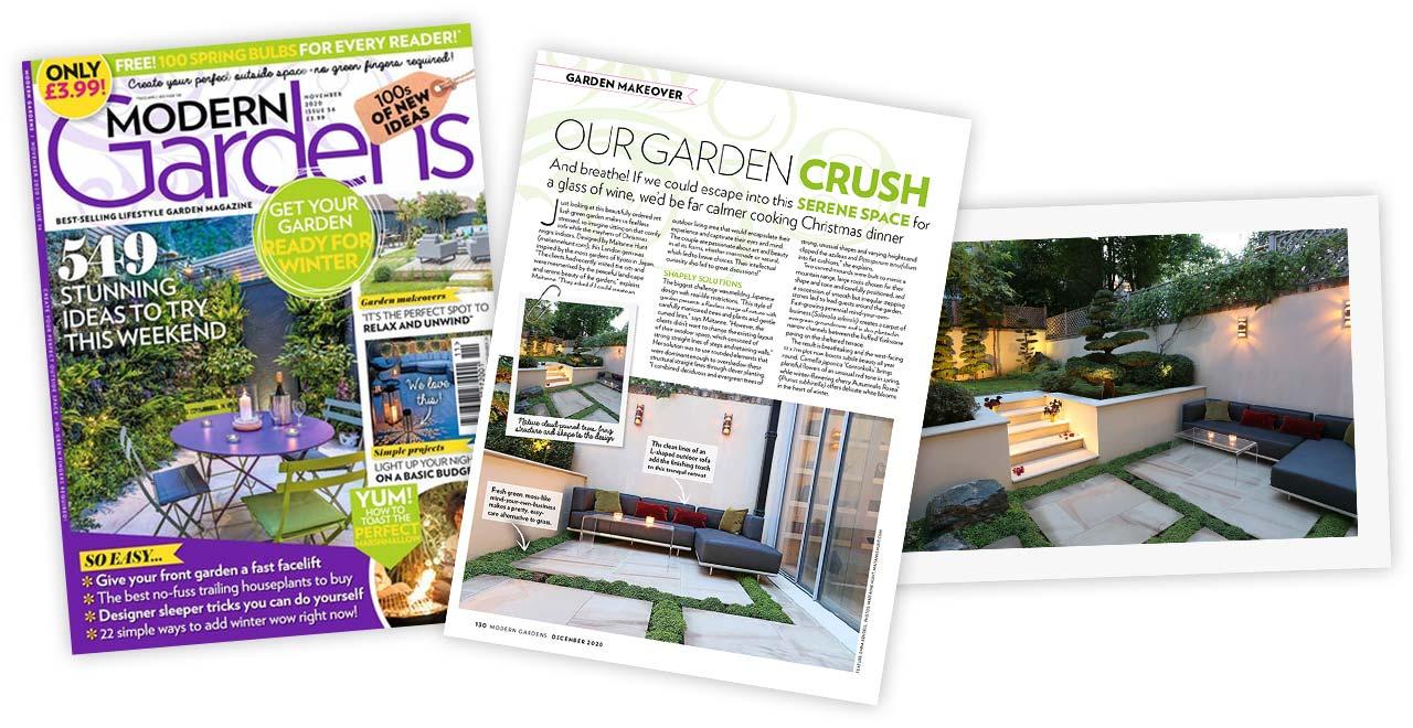 Modern Gardens Garden Makeover Japanese Garden by Maitanne Hunt