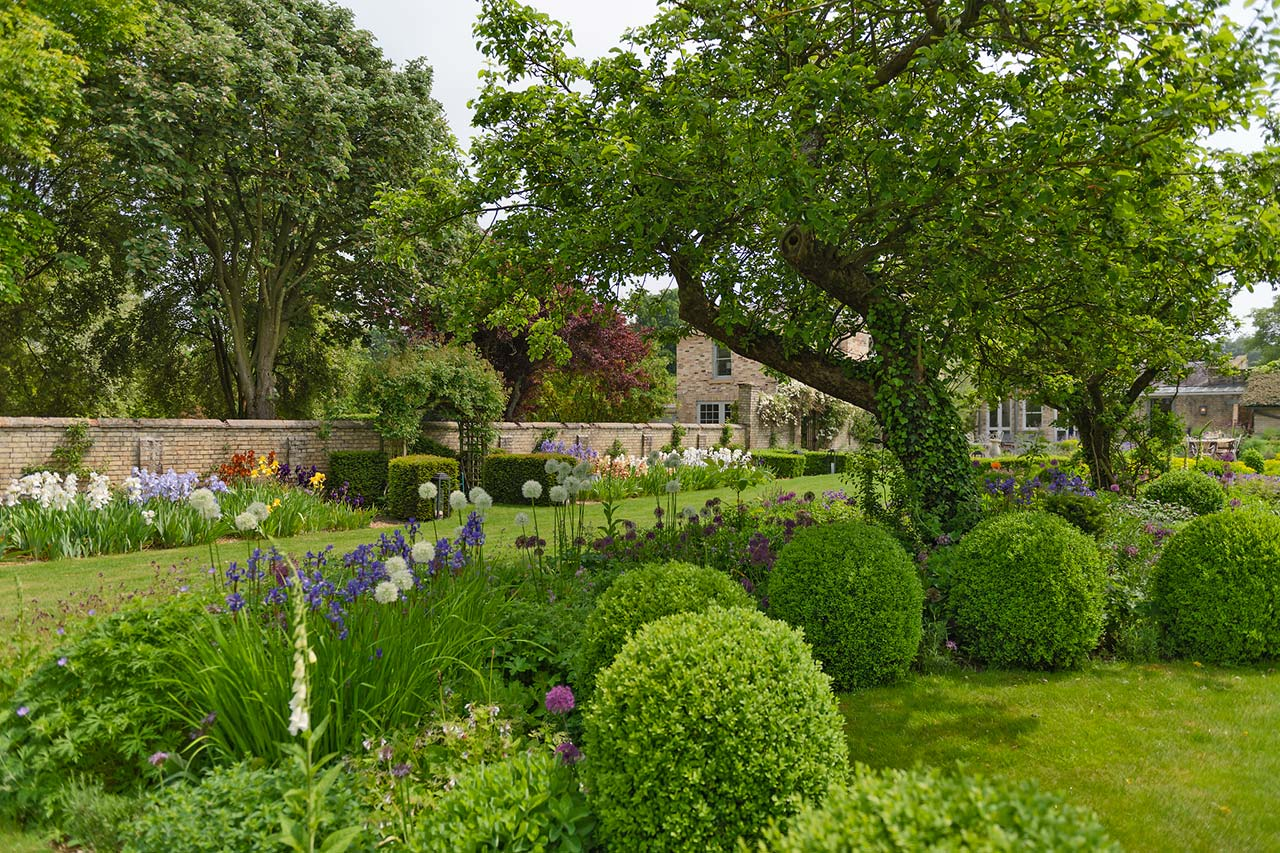 Reimagined walled country garden in Cambridgeshire