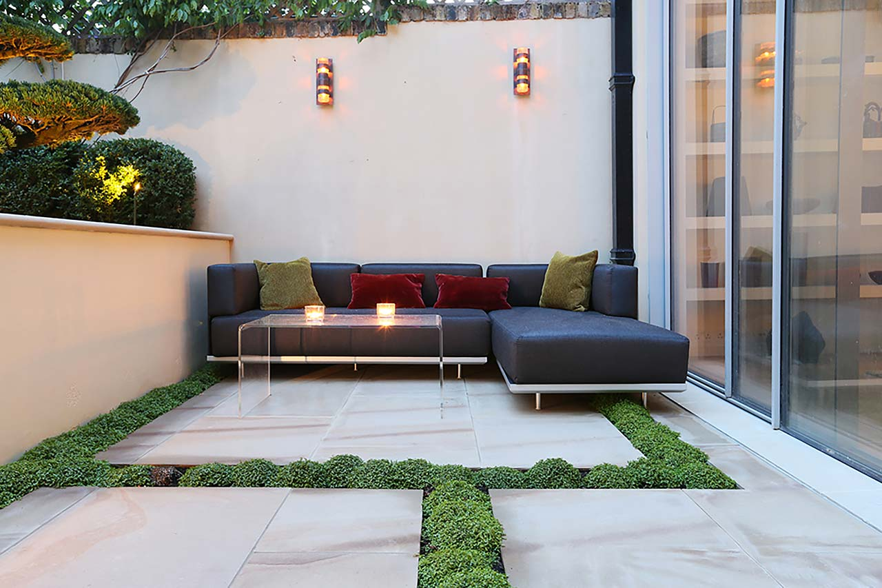 Japanese Garden's seating area