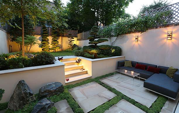 Japanese landscape influenced garden