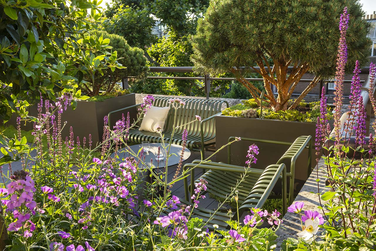 Mayfair Roof Terrace enhanced with a carefully selected planting palette