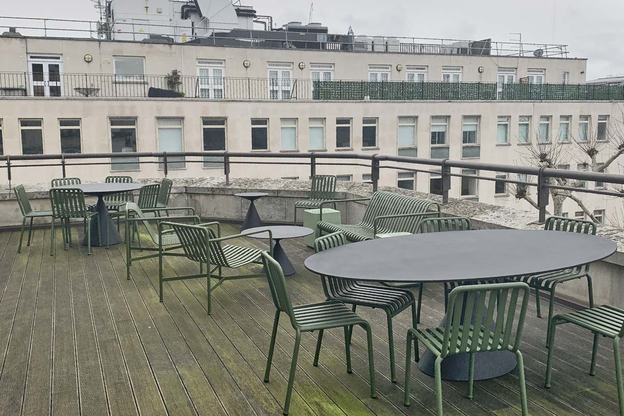 Mayfair Roof Terrace before we started