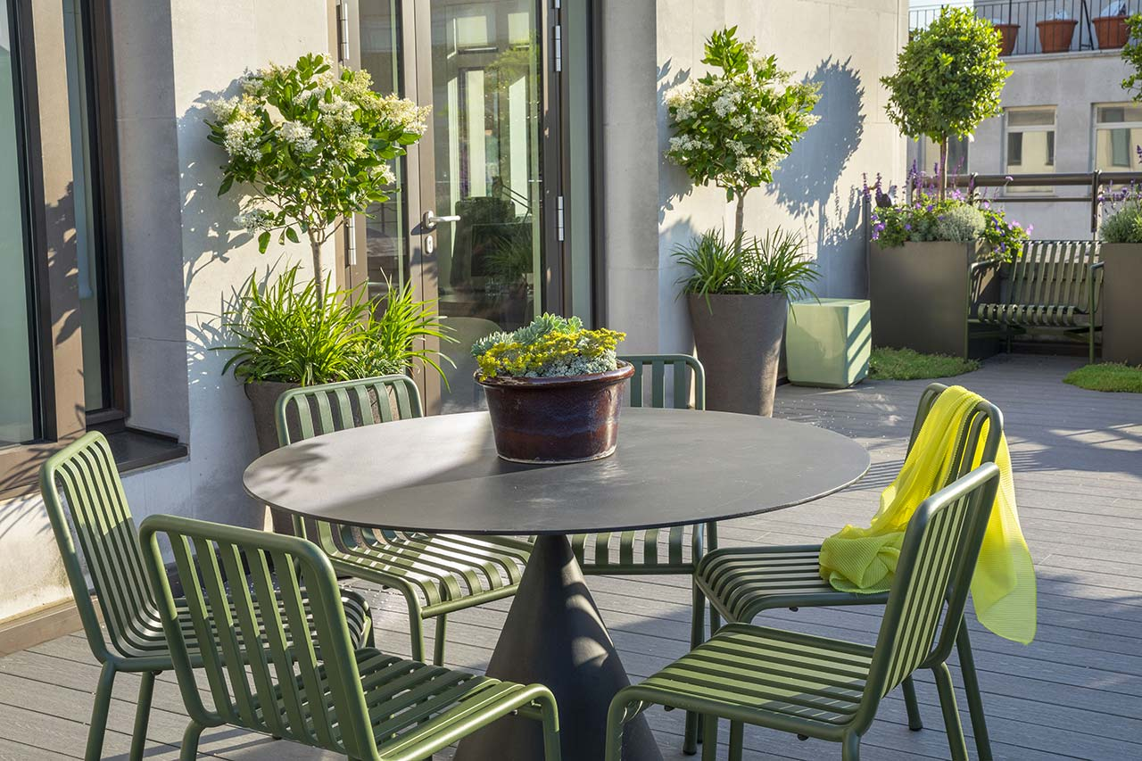 Mayfair Roof Terrace allows employees to relax and escape from the city