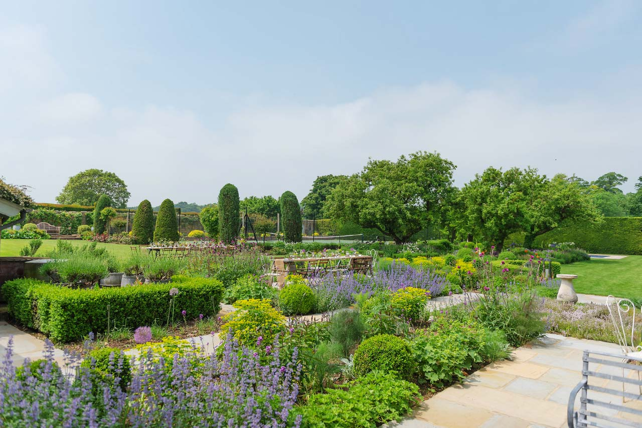 Walled country garden in Cambridgeshire