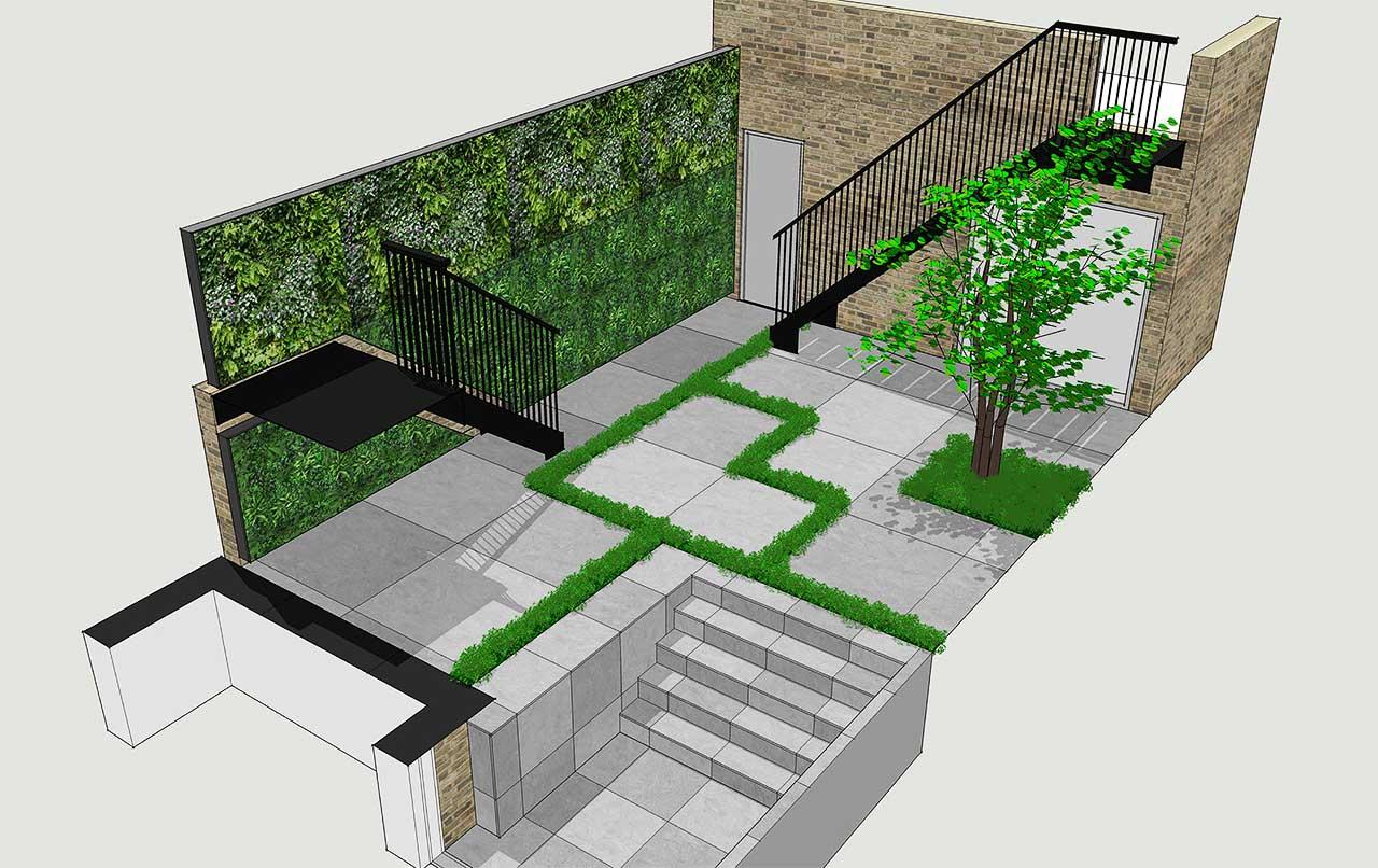Knightsbridge minimalist garden computer visual